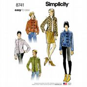 8741 Simplicity Pattern: Misses' Lined Jackets